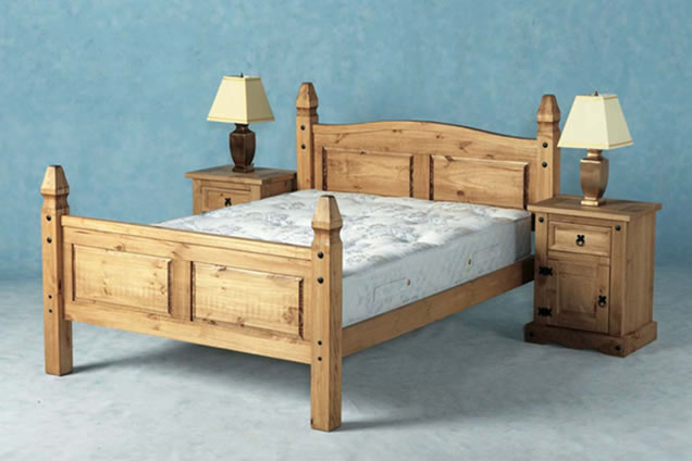 Corona Mexican Bed, wooden beds