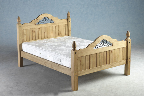 Corona Scoll Bed, wooden beds