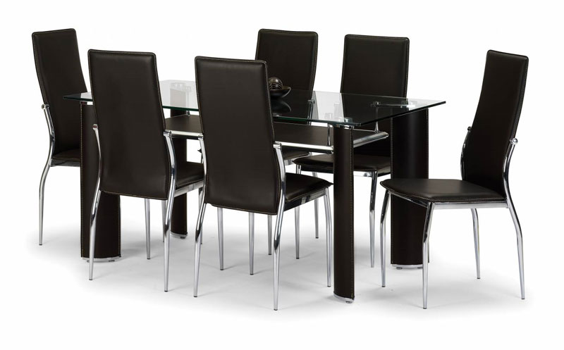 Glass dining tables rimini lincoln oprono tables